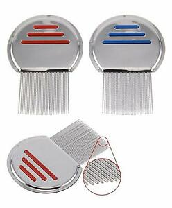 NitFree Lice Comb Metal Comb Lice Nit Eggs Remover Steel Metal Tooth Kids Adults