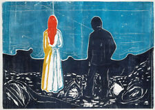 Edvard Munch Two People Giclee Canvas Print Paintings Poster Reproduction Copy