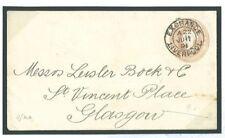 """C213 1891 Paño cubierto """"Glasgow clasificación tender"""" Penny Rosa ex Liverpool"""