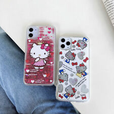 Cute Hello Kitty Quicksand TPU Phone Case For iPhone 11 Max XS 8 7 XR X SE 2020