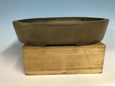 Beautiful Older Unglazed Bonsai Tree Pot Made By Syuzan 15 1/8�