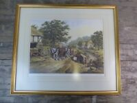 Framed & Signed J.L Chapman Print The Strong Team Heavy Horses.