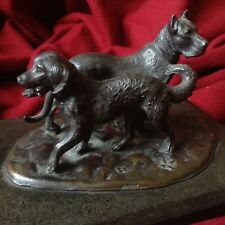 Antique Argentor Silver Dog Boxer Pedigree Statue Sculpture Figure Vienna Bronze