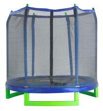 Upper Bounce 7 Ft. Trampoline & Enclosure Set for Kids - Classic Indoor Outdoor