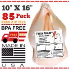 """POULTRY SHRINK BAGS 10""""X16"""" (85) CHICKEN SHRINK BAGS FREEZER SAFE (USA MADE🇺🇸)"""
