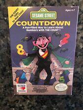 Sesame Street Countdown (Nintendo NES) Complete in BOX - RARE Sealed