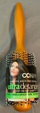 CONAIR ULTRA DETANGLER WET OR DRY natural Wood Hair Brush Best For Blow Drying