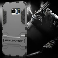 Hybrid Impact Armor Rugged Hard Case Cover Stand For Samsung Galaxy S6 EDGE 2015
