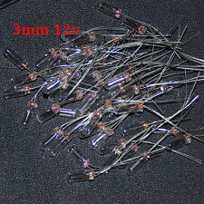 20pcs Edison Miniature 3mm 12v Lamp Bulb Bombilla Incandescent Filament Rice 3mm