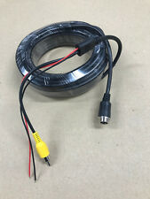 Reversing Camera 4-PIN Male  Adaptor 10M to RCA male Video bare power cables