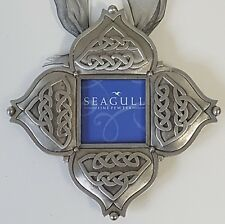 Unusual Seagull Pewter Hanging Picture Frame Elaborate Canadian Canada 2001