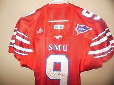 Southern Methodist University SMU Game Used Football Jersey 2008 AUTOGRAPHED 85f283f1f