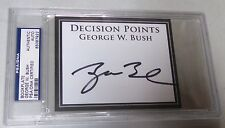43rd President George W. Bush Signed Cut Book Plate Card PSA/DNA COA Autograph