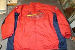 St. Louis Cardinals Majestic MLB Therma Base Jacket Size 6XL Red BIG TALL NWT