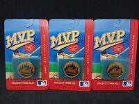 (Lot of 3) 1990 MLB MVP Major League Teams Collector Pin Series New York Mets