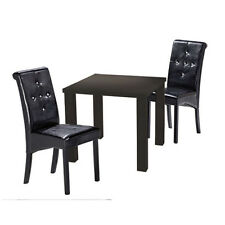 Small Dining Table ¦ Available in Black/White/Cream/Stone - 2 SEATER - FREE P&P