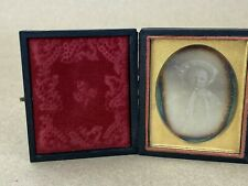 Daguerreotype Vintage 1850s Photograph of a year old Kid  w/ Cute hat & Dress
