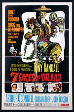 THE SEVEN 7 FACES OF DR. LAO GEORGE PAL FANTASY 1964 1-SHEET