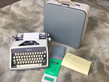 Vintage OLYMPIA SM7 Manual Typewriter w/ Case & Manual, Made in W. Germany