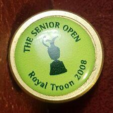 The Seniors Open, Royal Troon 2008, Golf Ball Marker (Brass)