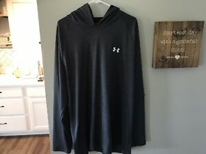 """Under Armour Gused Barely worn Grey Lt. weight Hoody! spotless 3XL Loose Fit"""""""""""""""