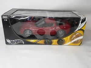 HOT WHEELS 1/18 Red 2005 Chevy Corvette Coupe C6