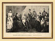 Emperador Franz Josef I. Sisi Austria familia K & K XL 89 en el marco de oro
