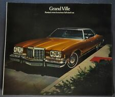 1974 Pontiac Grand Ville Sales Brochure Folder Excellent Original 74