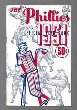 1951 PHILADELPHIA PHILLIES  RAREST YEARBOOK  LOOKS EXCELLENT/MINT PLUS