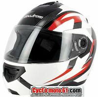 Casque Moto / Scooter Modulable S-line S520 Rouge / Blanc XS