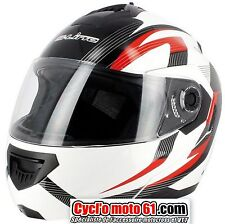 Casque Moto / Scooter Modulable S-line S520 Rouge / Blanc XL