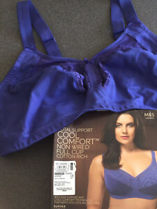 MARKS & SPENCER BOXED FULL BRA TOTAL SUPPORT NON WIRED COOL COMFORT 44B MARINE