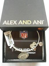Alex and Ani NY JETS FOOTBALL Expandable Wire Bracelet Rafaelian Silver NWTB&C
