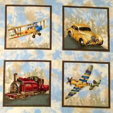 Planes, Trains & Automobiles in Framed Squares for Little Quilts, Per Row