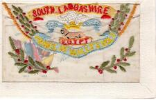 South Lancashire Regiment Egypt Embroidered  Regimental Silk unused old pc
