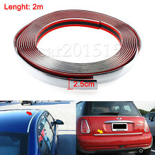 25mm x2M (6.5FT) Chrome Silver Moulding Trim for Car Bumper Protector Strip