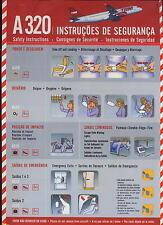 TAM Safety Card Airbus A 320 airline memorabilia sc663 ax