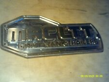 Vintage MACLTT Liquid Tank Trailers Cast Aluminum Sign Plaque Emblem Logo Decal