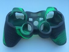Green/Black Soft Silicone Skin Grip Protective Cover for PS3 Rubber Case