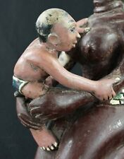 """Art Africain Arts Coloniaux Tribaux - Ancien """"Colon"""" Maternité Gouro - 38 Cms ++"""