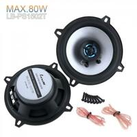 """5"""" Inch 80W 2 Way Car Audio Coaxial Speakers Stereo (Pair) 4OHM Auto Loudspeaker"""