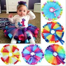 Girls Kid Princess Layer Petticoat Ballet Dancewear Pettiskirt Dress Tutu Skirt