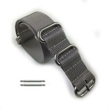 5 Ring Ballistic Army Military Grey Nylon Fabric Replacement Watch Band Strap