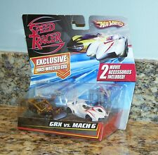 Hot Wheels Speed Racer Race Wrecked GRX Vs. Mach 6 Movie Model Diecast Cars Set
