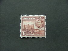 Malta KGVI 1938 1d brown SG219 MM