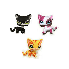 Littlest Pet Shop Orange Striped & Sparkle Pink & Black Blythe Short Hair Cat