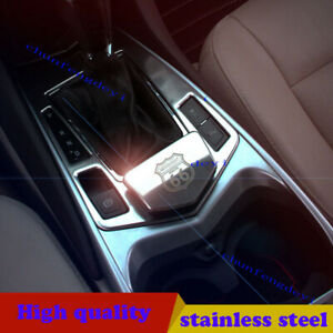 for Cadillac SRX 2010-2015 2pcs Stainless gear frame + ashtray decorative trim
