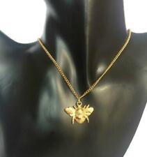 Bumble Bee Halskette, Handarbeit aus 22ct Gold vergoldet Fein Englisch Zinn.