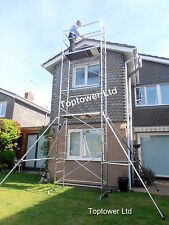 Premium 5m/7m  DIY Aluminium Scaffold Tower choice Castors, Adj Legs Stabilisers