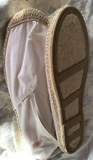 NEW Polo Ralph Lauren  Woman's White Espadrille Flats Size 9